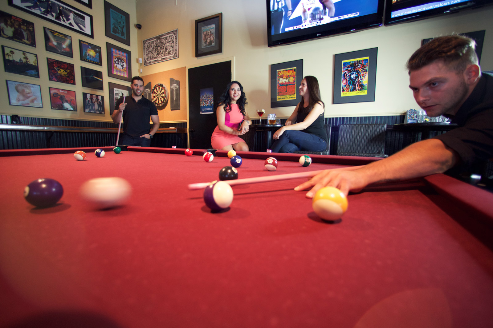 Show off your mad pool table skills, which we know will be especially improved with a burger and drink on hand!<br>